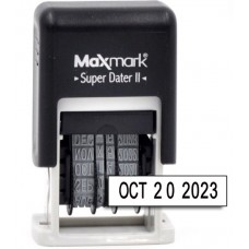 MaxMark Super Dater II - Self Inking Date Stamp with Black Ink