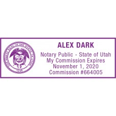 Notary Stamp for Utah State