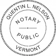Notary Stamp for Vermont State - Round
