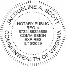 Notary Stamp for Virginia State - Round