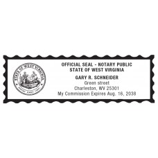 Notary Stamp for West Virginia State 1
