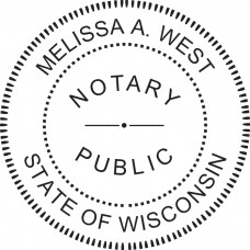 Notary Stamp for Wisconsin State - Round
