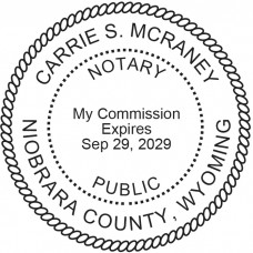 Notary Stamp for Wyoming State - Round