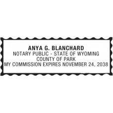 Notary Stamp for Wyoming State