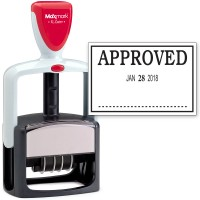 2000 PLUS Heavy Duty Style 2-Color Date Stamp with APPROVED self inking stamp - Black Ink