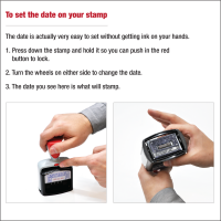 2000 PLUS Heavy Duty Style 2-Color Date Stamp with E-MAILED self inking stamp - Black Ink