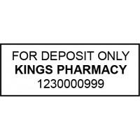 Bank Deposit Stamp Self-Inking 3 Lines