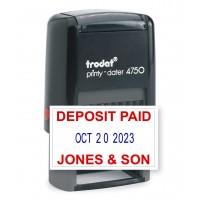 Trodat 4750 Custom Date Stamp