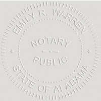 Notary Seal Round Embosser for Alabama State - Includes Gold Burst Seal Labels (42 count)