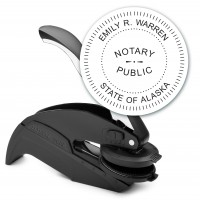 Notary Seal Round Embosser for Alaska State - Includes Gold Burst Seal Labels (42 count)