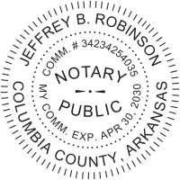 Notary Seal Round Embosser for Arkansas State - Includes Gold Burst Seal Labels (42 count)