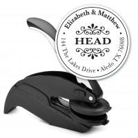 Round Monogram Address Seal Embosser - Style EM015