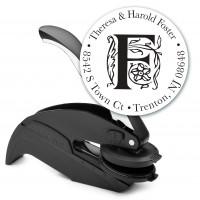 Round Monogram Address Seal Embosser - Style EM018