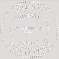 Notary Seal Round Embosser for Hawaii State - Includes Gold Burst Seal Labels (42 count)