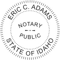 Notary Seal Round Embosser for Idaho State - Includes Gold Burst Seal Labels (42 count)