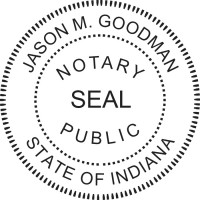 Notary Seal Round Embosser for Indiana State - Includes Gold Burst Seal Labels (42 count)