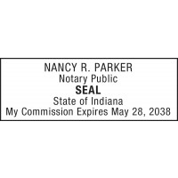 Notary Stamp for Indiana State