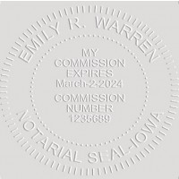 Notary Seal Round Embosser for Iowa State - Includes Gold Burst Seal Labels (42 count)