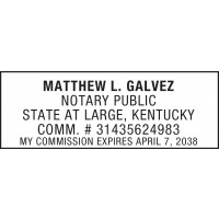 Notary Stamp for Kentucky State