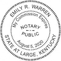 Notary Seal Round Embosser for Kentucky State - Includes Gold Burst Seal Labels (42 count)