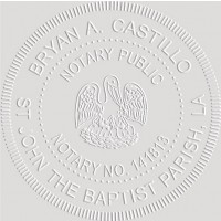 Notary Seal Round Embosser for Louisiana State - Includes Gold Burst Seal Labels (42 count)