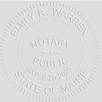 Notary Seal Round Embosser for Maine State - Includes Gold Burst Seal Labels (42 count)