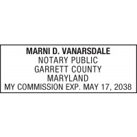 Notary Stamp for Maryland State