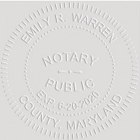 Notary Seal Round Embosser for Maryland State - Includes Gold Burst Seal Labels (42 count)