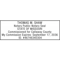 Notary Stamp for Missouri State
