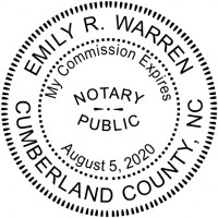 Notary Stamp for North Carolina State - Round2
