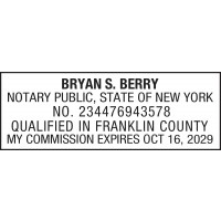 Notary Stamp for New York State