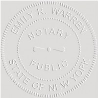 Notary Seal Round Embosser for New York State - Includes ...