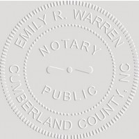 Notary Seal Embosser for North Carolina State - Includes Gold Burst Seal Labels (42 count)