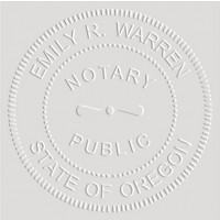 Notary Seal Embosser for Oregon State - Includes Gold Burst Seal Labels (42 count)