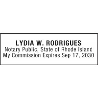 Notary Stamp for Rhode Island State