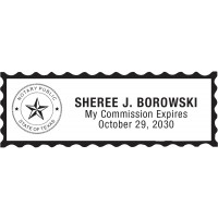 Notary Stamp for Texas State 1