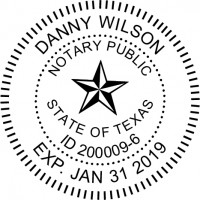 Notary Stamp for Texas State - Round