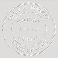 Notary Seal Embosser for Utah State - Includes Gold Burst Seal Labels (42 count)