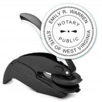 Notary Seal Embosser for West Virginia State - Includes Gold Burst Seal Labels (42 count)