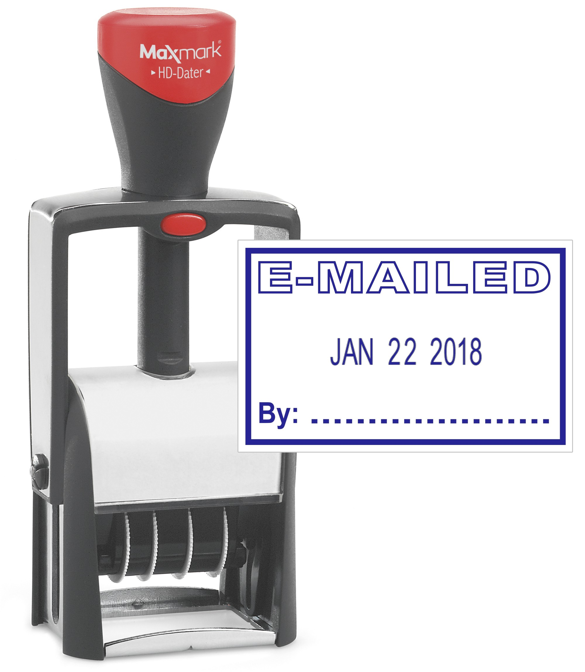 Heavy Duty Date Stamp With EMAILED Self Inking