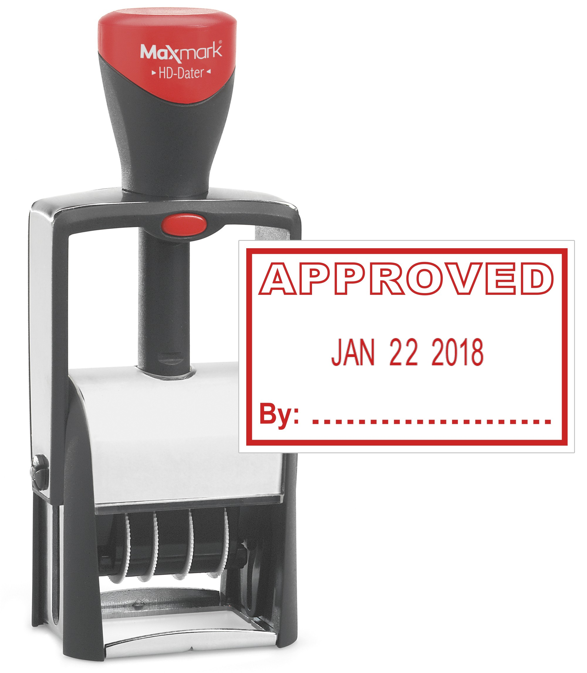 Heavy Duty Date Stamp With Quot Approved Quot Self Inking Stamp